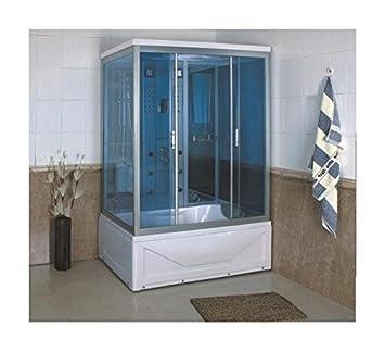 gd trade cabina box doccia con vasca idromassaggio da 135x85 con bagno turco e cromoterapia