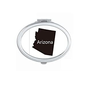 Arizona The United States Of America Map Mirror Portable Fold Hand Makeup Double Side Glasses