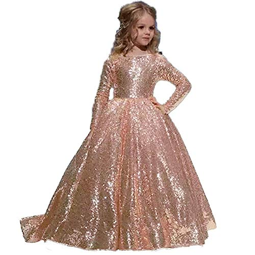 Flower Girls Butterfly Princess Dresses Floral Lace Gold Sequined Applique Women's Bridesmaids Formal Chiffon Wedding Pettiskirt Dress Long Dress Cocktail Evening Prom Party 2-13 Years,10