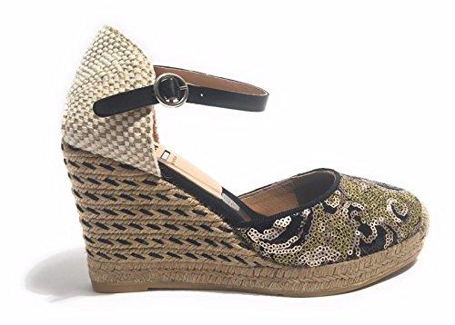 KANNA Women's Nolle Fashion Sandals black black 3 UK mfUAUS5LW