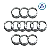 wide mouth jar rings - ThinkChances silver Screw Tinplate Metal Rings / Bands for Mason, Ball, Canning Jars (12 Pack, Wide Mouth)