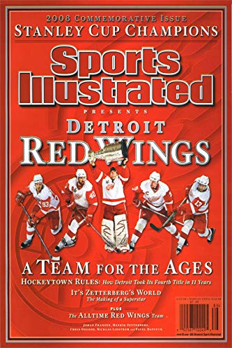 Red Autograph - Championship Commemorative Sports Illustrated Autograph Replica Super Print - Detroit Red Wings - 2009 - Unframed