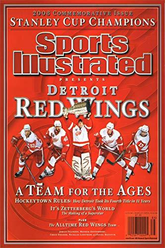 Championship Commemorative Sports Illustrated Autograph Replica Super Print - Detroit Red Wings - 2009 - - Red Autograph