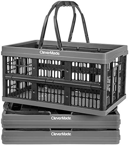 CleverMade Collapsible Plastic Grocery Shopping