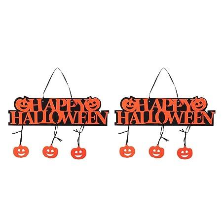Garneck 2 Piezas Feliz Halloween Cartel decoración Colgante ...