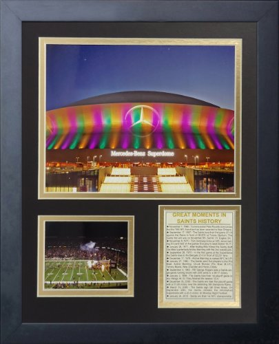 Legends Never Die New Orleans Saints Superdome Framed Photo Collage, 11 by 14-Inch (New Orleans Collectors Saints)