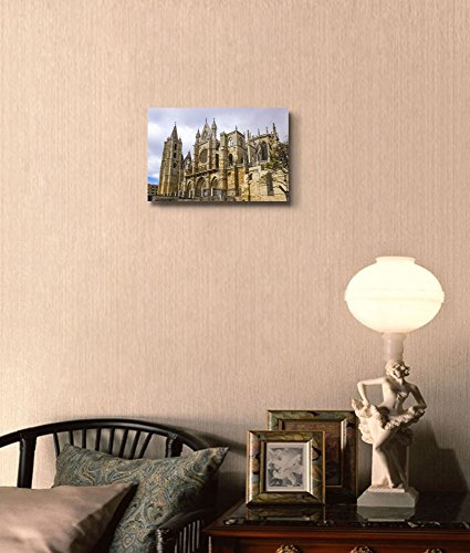 Famous Landmark Gothic Cathedral of Leon Castilla Leon Spain Home Deoration Wall Decor ing