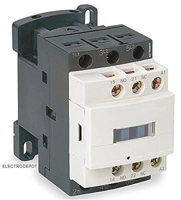 30A AC Contactor 120V Coil 40A DIN Rail 3P Three Pole 1NO 1NC IEC AC3 32A, AC1 50A
