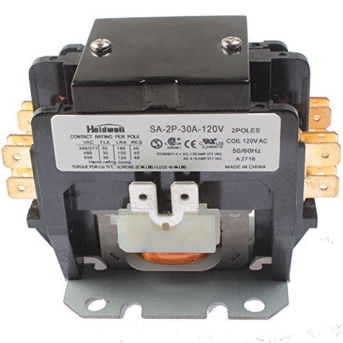 Holdwell SA-2P-30A-120V 2 Pole 20 Amp 25 Amp 30 Amp 120V Coil Definite Purpose Contactor