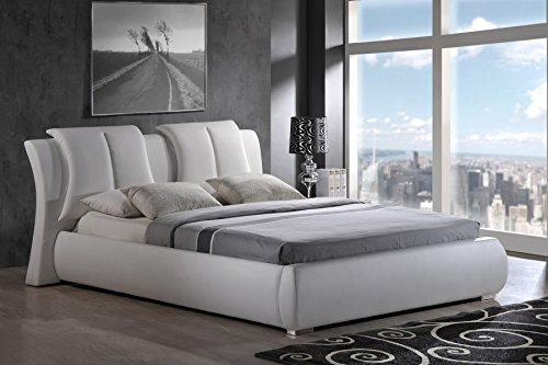 Global Furniture Upholstered Bed, Queen, White