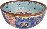 Polish Pottery UNikat XL Mixing or Serving Bowl Blue Sky Meadow