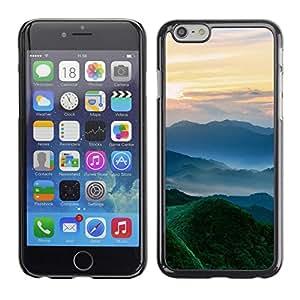 Be Good Phone Accessory // Dura Cáscara cubierta Protectora Caso Carcasa Funda de Protección para Apple Iphone 6 // Nature Beautiful Forrest Green 102