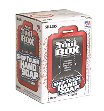 Sellars 99802 ToolBox Shop Tough Hand Soap, 800mL Boxes, White (Case of 12