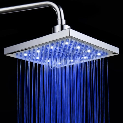 10 inches chrome LED shower head - 3