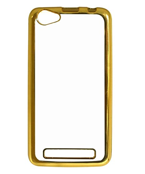 Back Cover for Reliance Lyf Flame 1 - Golden: Amazon in