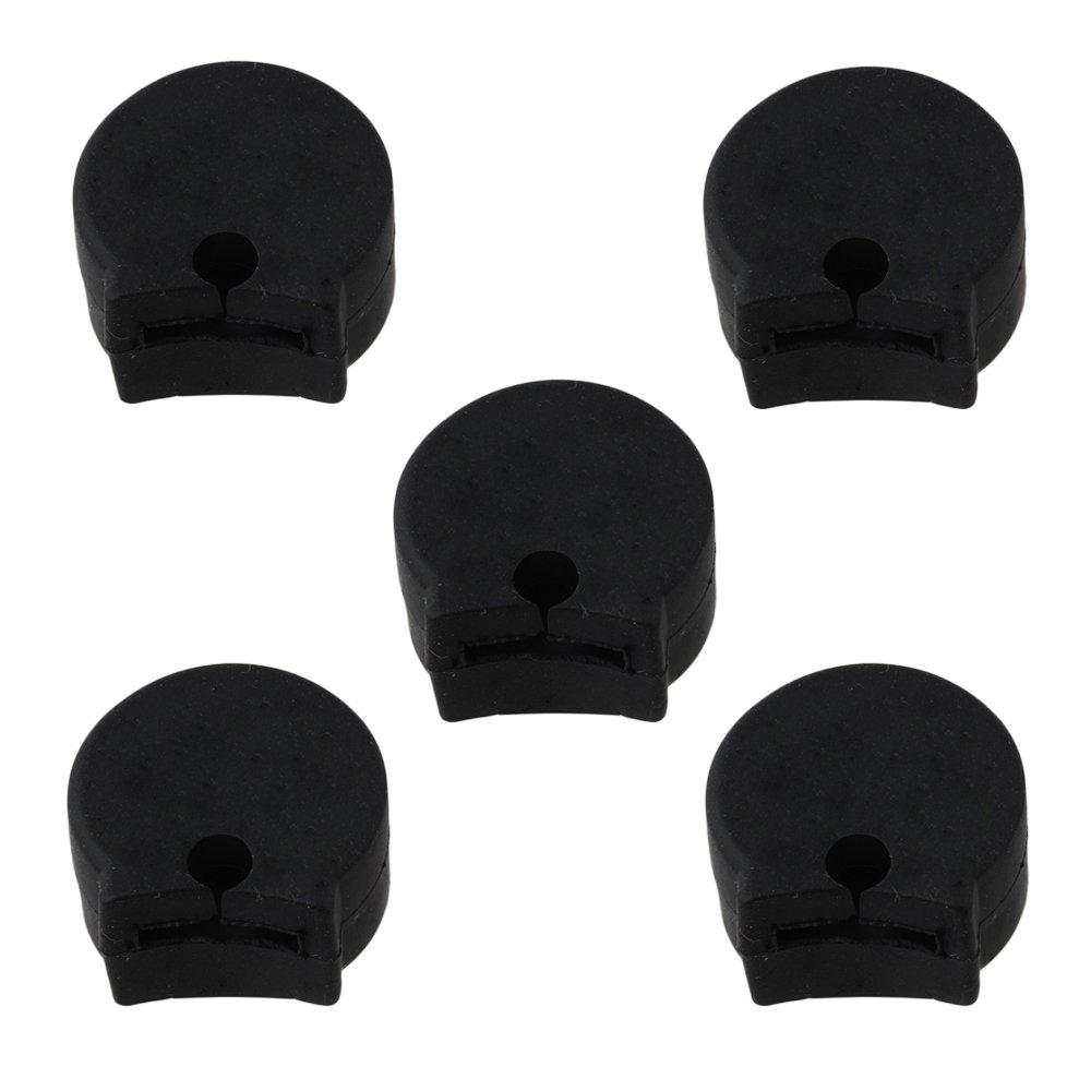 Yibuy Black Soft Rubber Clarinet Thumb Rest Cushion Protector Saver Pack of 5 etfshop Yibuy10