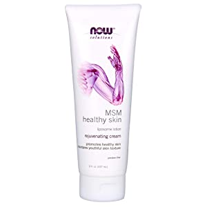 NOW Solutions, MSM Healthy Skin Liposome Lotion, Rejuventating Cream with Almond Oil and Aloe, 8-Ounce