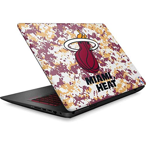 Skinit NBA Miami Heat Omen 15in Skin - Miami Heat Digi Camo Design - Ultra Thin, Lightweight Vinyl Decal Protection by Skinit