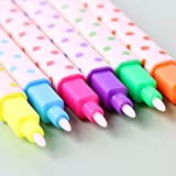 12pcs/lot Sweet Candy Colored Diamond Stone Erasable Highlighters Watercolor Pen Mark Pen