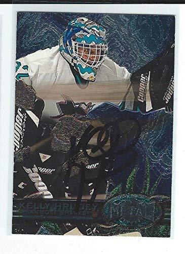 Kelly Hrudey Signed 1996/97 Metal Universe Card #136 - Hockey Slabbed Autographed Cards ()