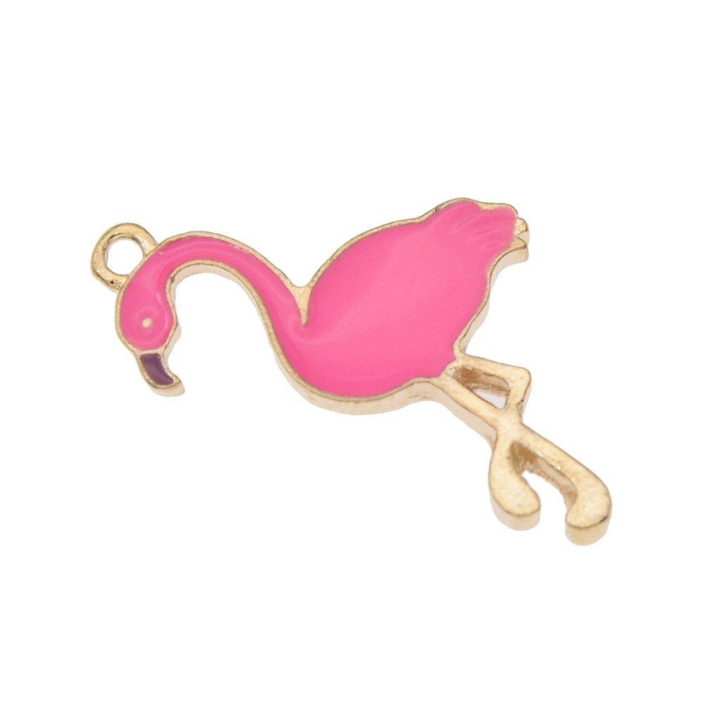 Hongma 10 St/ück Flamingo Schmuckanh/änger Bastelanh/änger Mehrfarbig Accessoires DIY