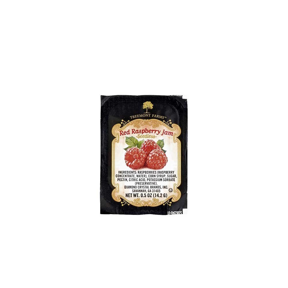 Treemont Farms Seedless Raspberry Jam Cup, 0.5 Ounce - 200 per case.