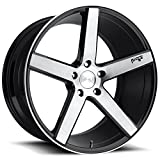 Niche Milan 20x8.5 Machined Black Wheel / Rim 5x120 with a 35mm Offset and a 72.6 Hub Bore. Partnumber M124208521+35