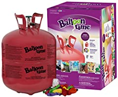 Balloon Time Disposable Large Helium Kit,Tank 14.9 cu.ft 50 Latex balloons White ribbon also included for 50 balloons Includes Blue Ribbon Party Planning Checklist