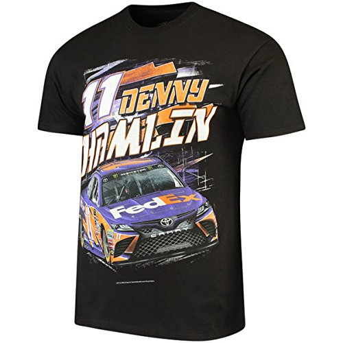 NASCAR Men's Torque Driver/Sponsor 2 Sided Graphic T-Shirt-Denny Hamlin (Fedex Racing)