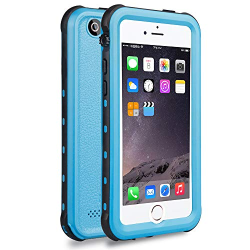iPhone 5S Best Waterproof Case, Waterproof, Dust Proof, Snow Proof, Shock Proof Case with Touched Transparent Screen Protector, Heavy Duty Protective Carrying Cover Case for iPhone 5 5s(T-Blue)