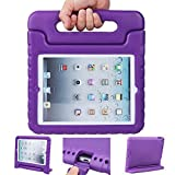 iPad air 2 case, ipad 6 case, ANTS TECH Light Weight [ Shockproof ] Cases Cover with Handle Stand for Kids Children for iPad air 2 (6) (iPad Air 2 (6), Purple)