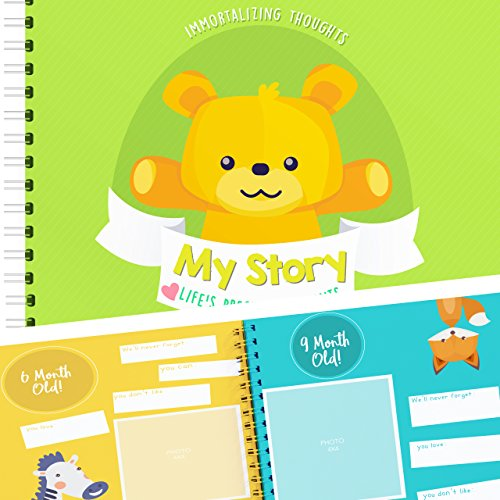(Baby Memory Book to Keepsake from The 1st to 5th Year of Your Baby's Life | Pages 30, 8x8 | Bear Edition | Includes Maternity Stickers, Great Gift for 1st Time Parents.)
