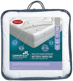 Tontine Comfortech Quilted Waterproof Mattress Protector, Queen