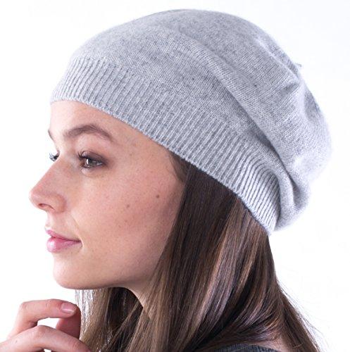 [cashmere 4 U100% Cashmere Knitted Beret Hat] (Hats 4 U)