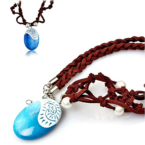 ZELIN Natives Polynesian Necklace for Princess Cosplay Prop Costume Accessories Pendant for Adults & Kids