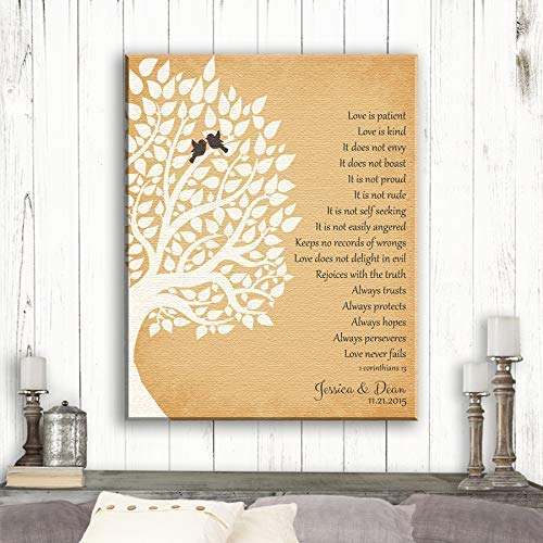 fef93d3341d Amazon.com: 1st First Year Anniversary Gift, 1 Corinthians, Love is ...