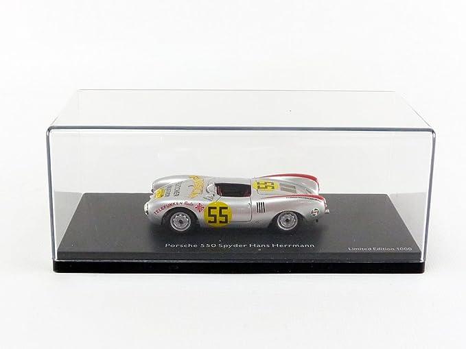 Schuco Dickie 450886700 - Porsche 550 spyder, Start Número 55, Carrera Panamericana, Resin, escala 1: 43, Plata: Amazon.es: Juguetes y juegos