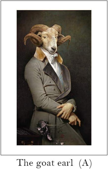 ZJMI Cuadro En Lienzo,Cita Nórdica Cartel Negro Blanco Sr. Cabra Lienzo Arte Mural Copias Cuadros De Pared Pinturas Modernas No Enmarcado,70×100Cm Sin Marco
