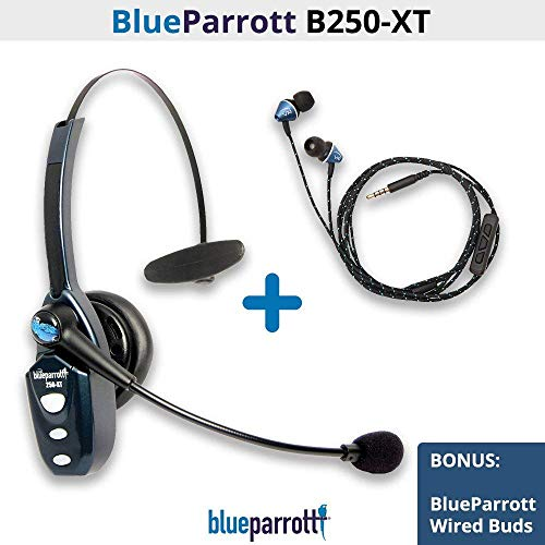 (VXi BlueParrott B250-XT (202720) Ultra(89 Percent) Noise Canceling Bluetooth Headset with Wired Ear Buds (203720))