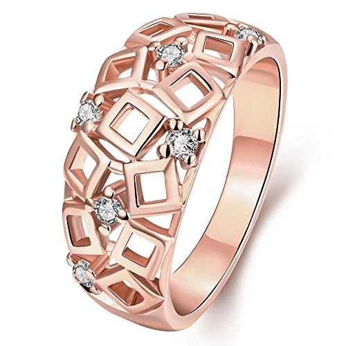 Stylish And Elegant Hollow Out Geometry Shape Personality Pattern Rings - Square - Store Nyc Palladium