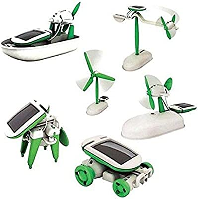 a1c93e18984 Amazon.com: Creative DIY 6 IN 1 Educational Learning Power Solar Robot Kit  Kids Toy Science & Nature: Toys & Games