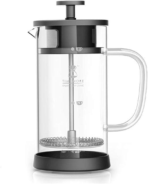 TY-Cafetera Máquina de café Francesa del hogar del Filtro del Doble del pote del café del pote francés de la presión (Tamaño : 600ml): Amazon.es: Hogar