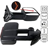 08 chevy 2500 tow mirrors - Towing Mirror Fits 2007-2014 Chevy Silverado Sierra | Towing Mirrors Power Heated Signal Arrow Light Set by IKON MOTORSPORTS | 2008 2009 2010 2011 2012 2013