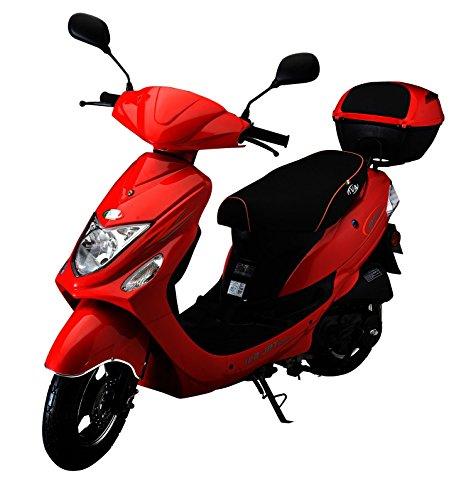 IVA Motorroller NEW JET 50 ccm inkl. Topcase, Rot 25 km/h