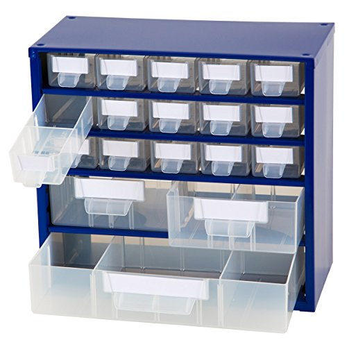 Johnssteel, 15+2+1 Drawers Plastic, Steel Metal Storage Hardware, Labels included