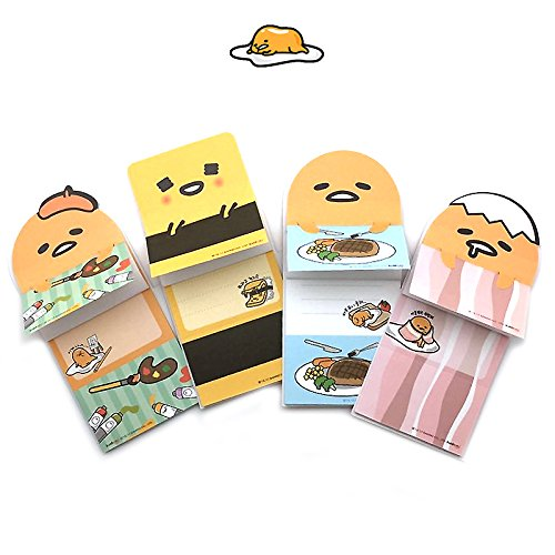 Characters Memo Sheets - Sanrio Gudetama Lazy Egg Secret Sticky Note Memo Pad Post IT (20 Sheets) x 1 Design (Type A - Arts)