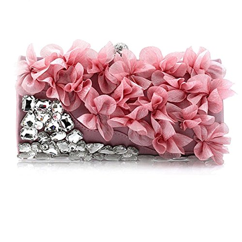 Flor De La Cena Del Bolso De Tarde Del Bolso Lindo Pink