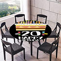 Round Table Tablecloth Vintage Cartoon Style Party