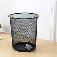 SZRWD Waste Rubbish Kitchen Bin Waste Paper Basket Trash Can Thicken Storage Bucket Anti-Embroidered Wire Mesh