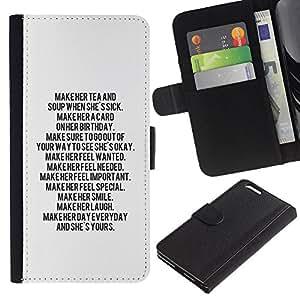 Planetar® Modelo colorido cuero carpeta tirón caso cubierta piel Holster Funda protección Apple (5.5 inches!!!) iPhone 6+ Plus / 6S+ Plus ( Text Letter Motivational Inspiring Quote )
